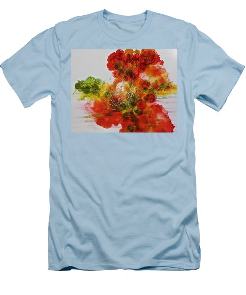 Men's T-Shirt (Slim Fit) featuring the painting Burst Of Nature, II by Carolyn Rosenberger