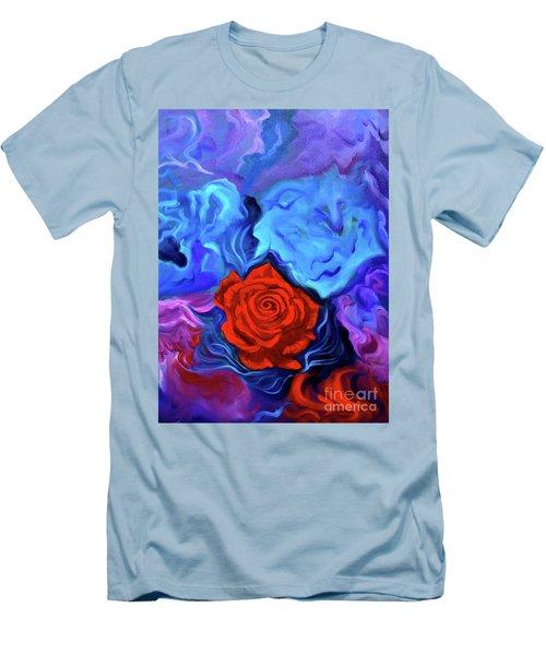 Bursting Rose Men's T-Shirt (Slim Fit) by Jenny Lee