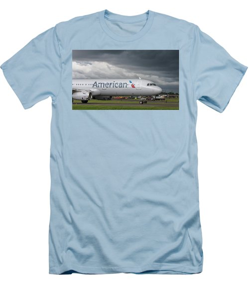 Men's T-Shirt (Athletic Fit) featuring the photograph But I Don't Want To Fly Today by Guy Whiteley