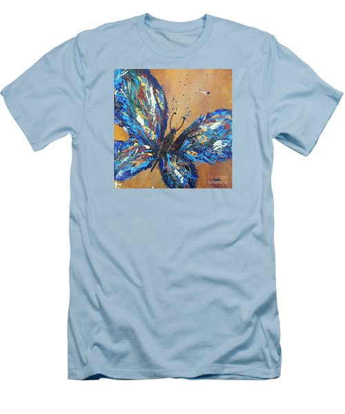 Butterfly Blue Men's T-Shirt (Athletic Fit)
