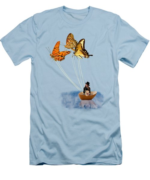 Butterfly Sailing Men's T-Shirt (Slim Fit)