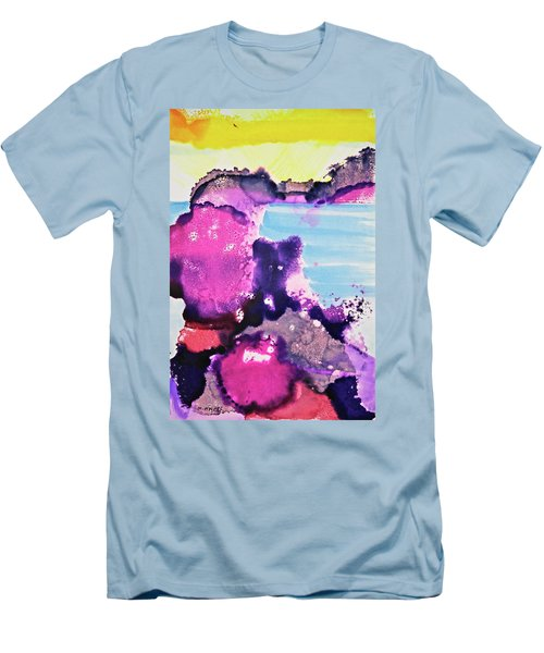 Men's T-Shirt (Athletic Fit) featuring the painting By The Sea by Michele Myers