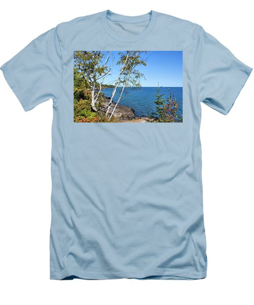 By The Shores Of Gitche Gumee Men's T-Shirt (Athletic Fit)