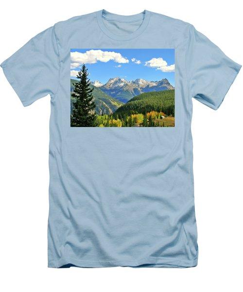Cabin In The San Juans Men's T-Shirt (Slim Fit) by Scott Mahon