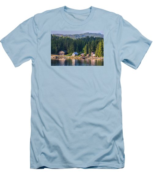 Cabins On The Water Men's T-Shirt (Slim Fit) by Lewis Mann