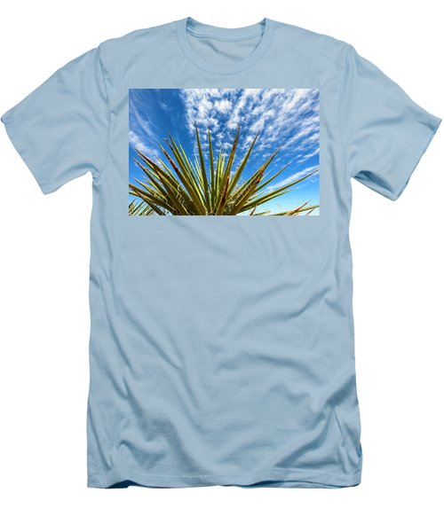 Cactus And Blue Sky Men's T-Shirt (Slim Fit) by Amyn Nasser