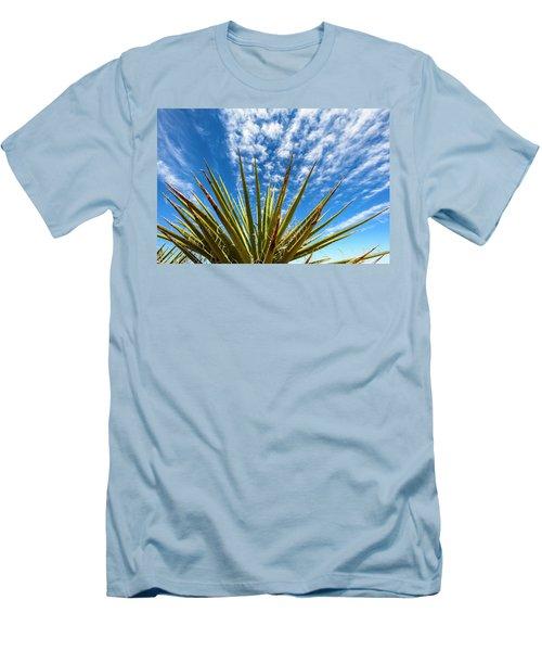 Cactus And Blue Sky Men's T-Shirt (Slim Fit)
