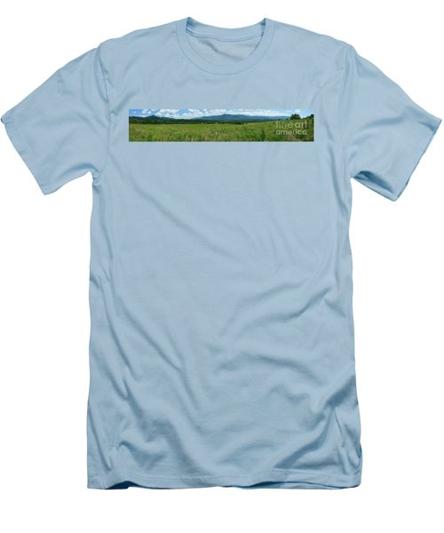 Men's T-Shirt (Slim Fit) featuring the photograph Cades Valley by Geraldine DeBoer