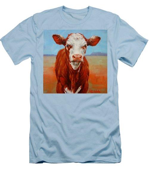 Calf Stare Men's T-Shirt (Slim Fit) by Margaret Stockdale