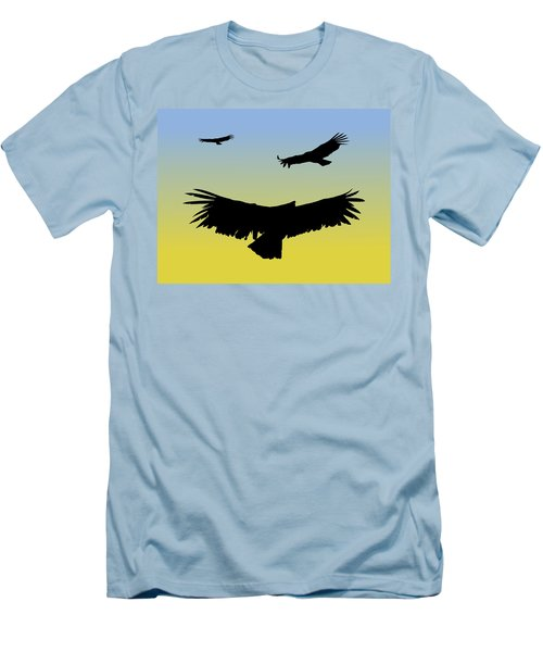 California Condors In Flight Silhouette At Sunrise Men's T-Shirt (Athletic Fit)