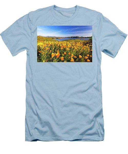 California Dreamin Men's T-Shirt (Slim Fit) by Tassanee Angiolillo