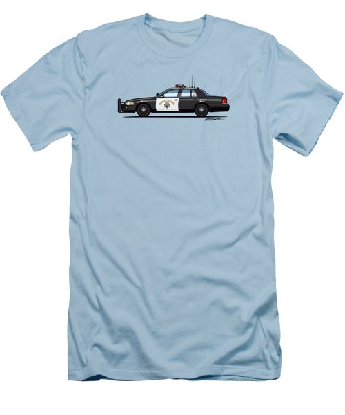 California Highway Patrol Ford Crown Victoria Police Interceptor Men's T-Shirt (Athletic Fit)