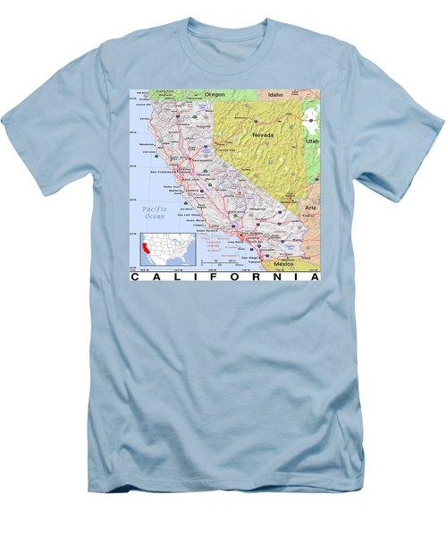 California Modern Map Men's T-Shirt (Athletic Fit)