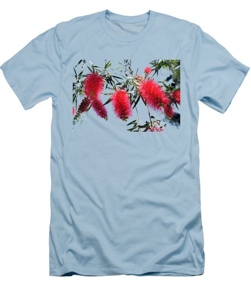 Callistemon - Bottle Brush T-shirt 3 Men's T-Shirt (Slim Fit) by Isam Awad