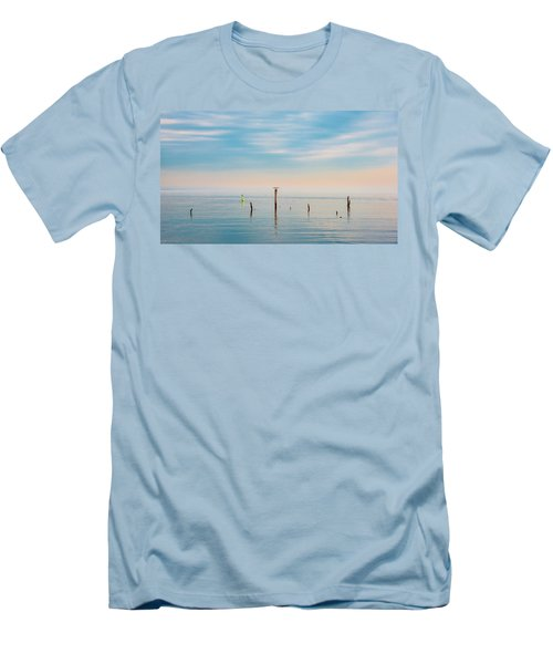 Men's T-Shirt (Athletic Fit) featuring the photograph Calm Bayshore Morning N0 3 by Gary Slawsky