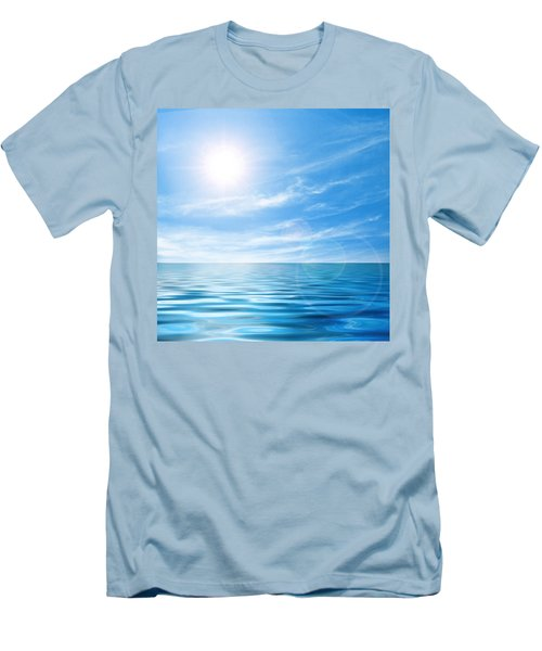 Calm Seascape Men's T-Shirt (Athletic Fit)