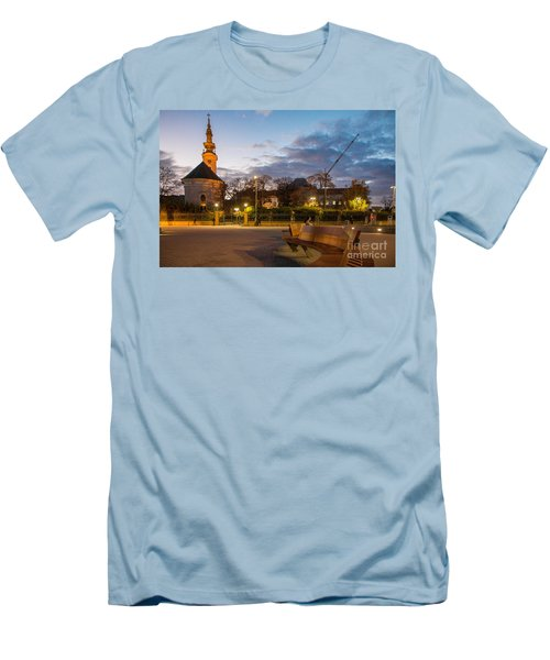 Calm Twilight In Novi Sad Vojvodina Men's T-Shirt (Slim Fit) by Jivko Nakev