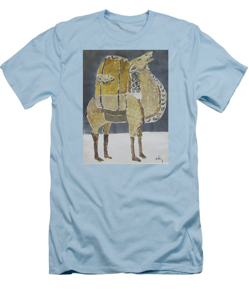 Camel Facing Right Men's T-Shirt (Athletic Fit)