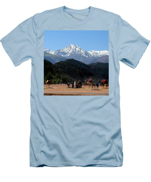 Men's T-Shirt (Slim Fit) featuring the photograph Camels 1 by Andrew Fare