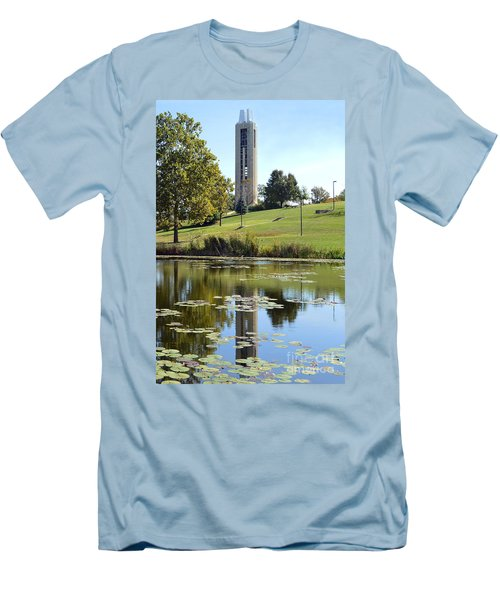 Campanile Reflection In Kansas Men's T-Shirt (Athletic Fit)