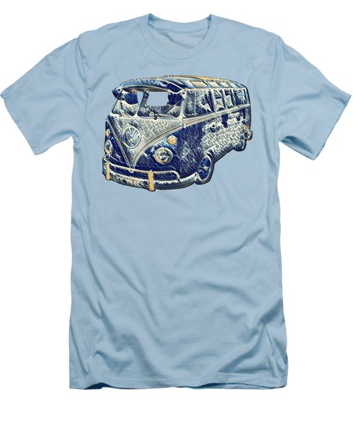 Men's T-Shirt (Slim Fit) featuring the photograph Camper Van Waves by John Colley