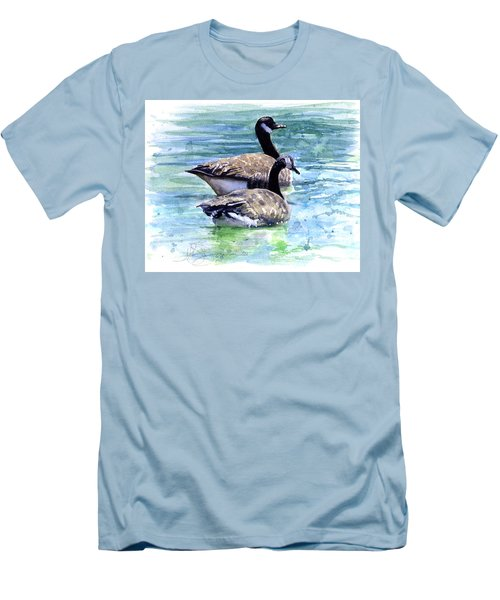 Canada Geese Men's T-Shirt (Athletic Fit)