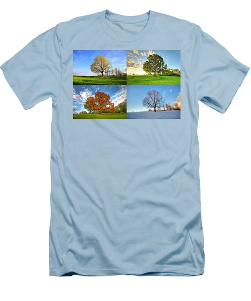 Canadian Seasons Men's T-Shirt (Slim Fit) by Mircea Costina Photography