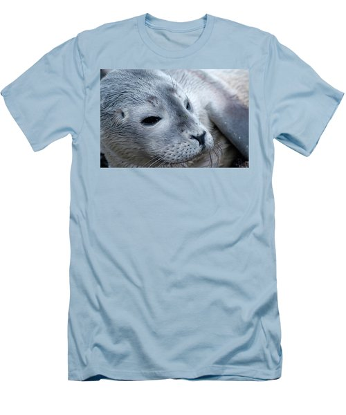 Cape Ann Seal Men's T-Shirt (Slim Fit) by Mike Martin