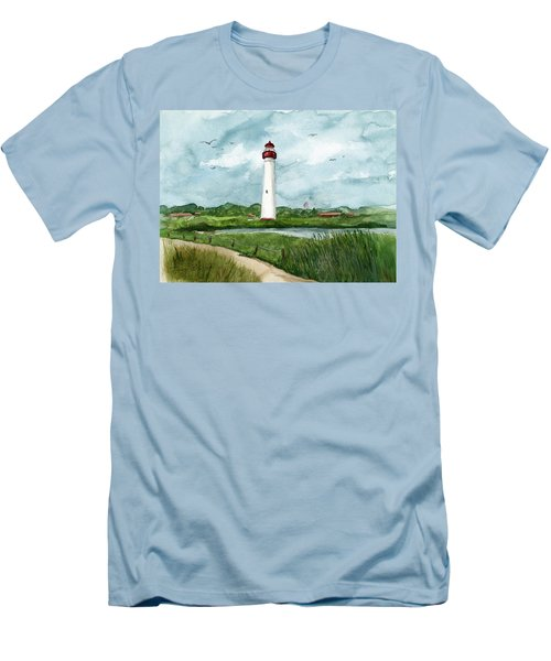 Cape May Lighthouse Men's T-Shirt (Athletic Fit)