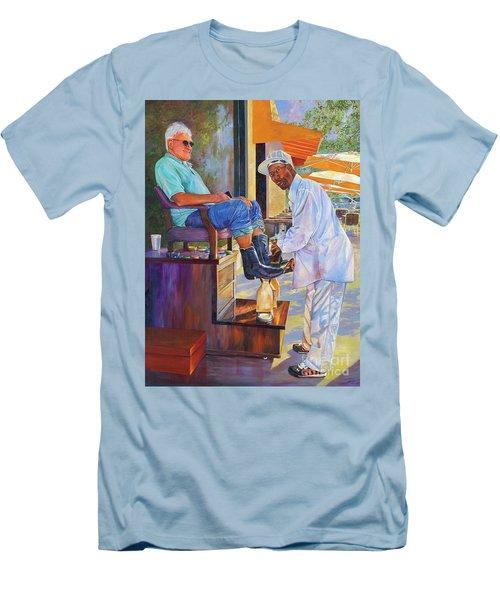 Captain Shoe Shine Men's T-Shirt (Slim Fit) by AnnaJo Vahle