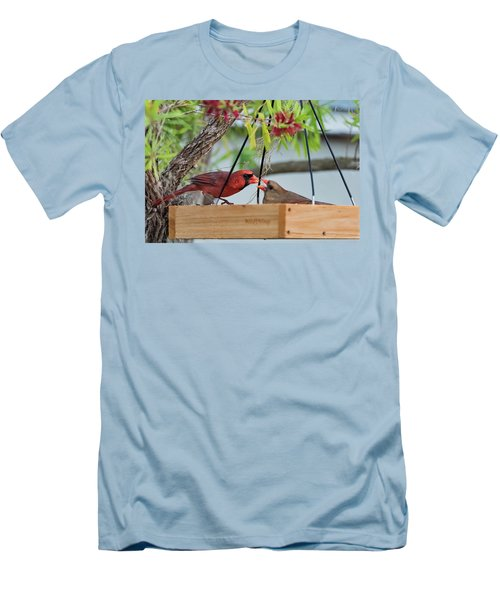 Cardinal Feeding  Men's T-Shirt (Athletic Fit)