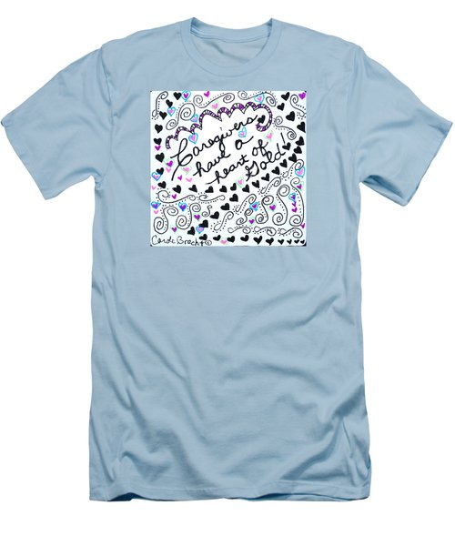 Caregiver Hearts Men's T-Shirt (Athletic Fit)