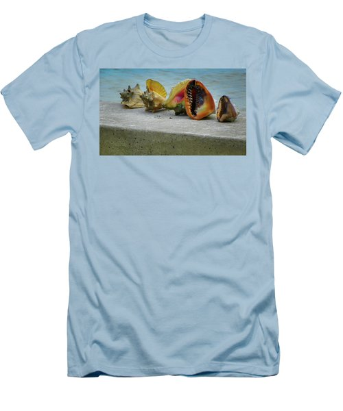Men's T-Shirt (Slim Fit) featuring the photograph Caribbean Charisma by Karen Wiles