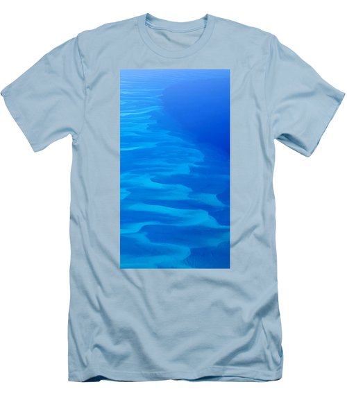 Men's T-Shirt (Slim Fit) featuring the photograph Caribbean Ocean Mosaic  by Jetson Nguyen