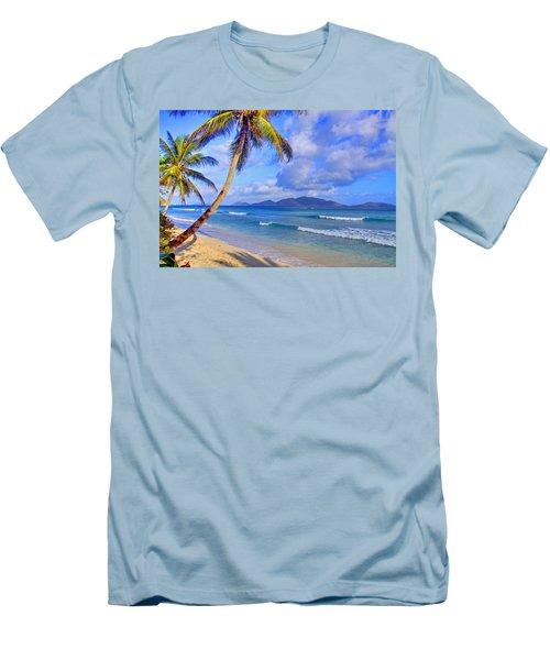 Caribbean Paradise Men's T-Shirt (Slim Fit) by Scott Mahon