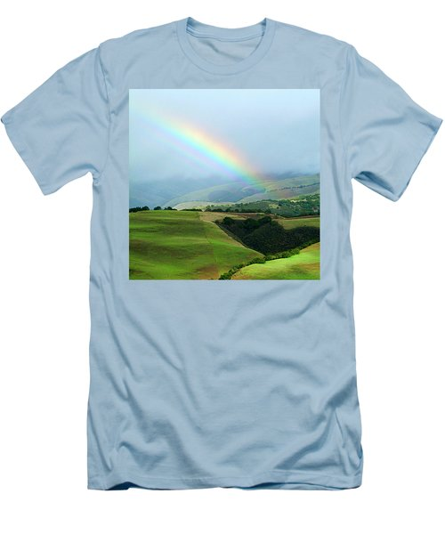 Carmel Valley Rainbow Men's T-Shirt (Athletic Fit)