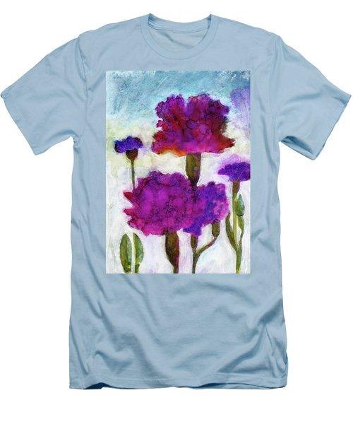 Carnations Men's T-Shirt (Slim Fit) by Julie Maas