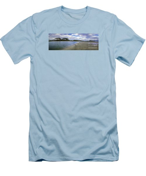 Carolina Inlet At Low Tide Men's T-Shirt (Slim Fit) by David Smith
