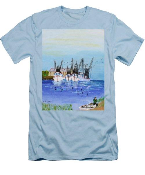 Carolina Shrimpers Men's T-Shirt (Slim Fit) by Bill Hubbard