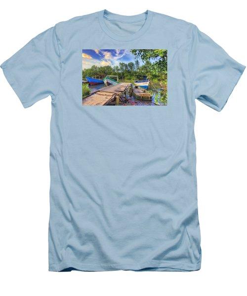 Caroni Swamp Men's T-Shirt (Slim Fit) by Nadia Sanowar