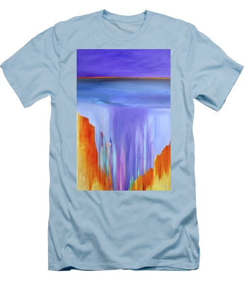 Men's T-Shirt (Slim Fit) featuring the painting Casade by Jo Appleby