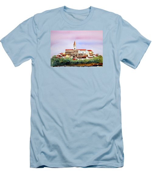 Men's T-Shirt (Slim Fit) featuring the painting Castelnuovo Della Daunia by William Renzulli