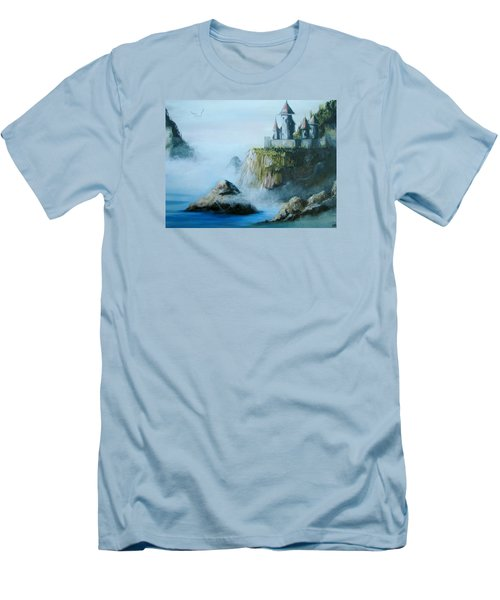 Castle At Dragon Point Men's T-Shirt (Athletic Fit)