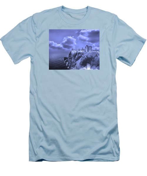 Castle Blue Men's T-Shirt (Athletic Fit)