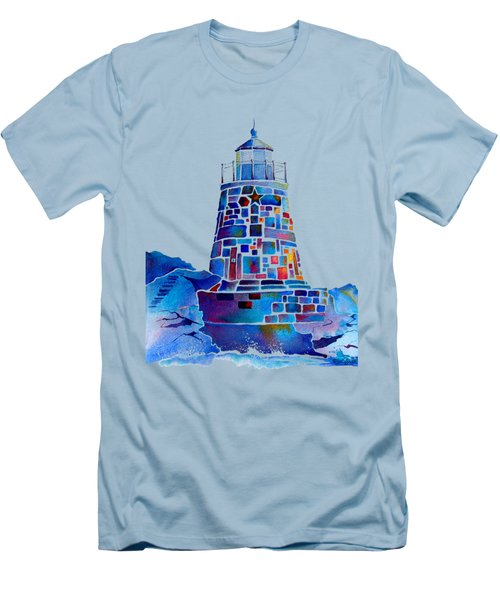 Castle Hill Newport Lighthouse Men's T-Shirt (Athletic Fit)