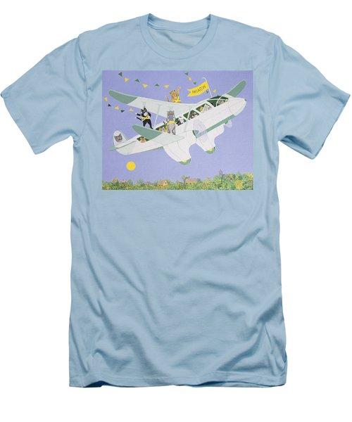 Cat Air Show Men's T-Shirt (Athletic Fit)