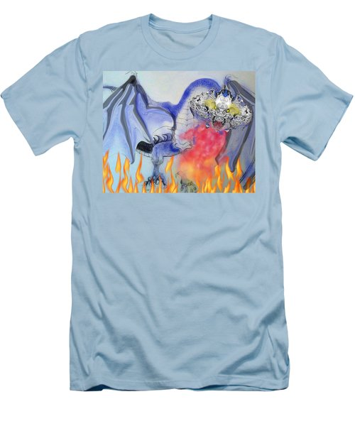Cat Dragon Men's T-Shirt (Athletic Fit)