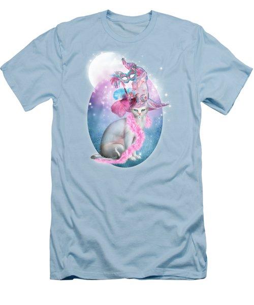 Cat In Fancy Witch Hat 4 Men's T-Shirt (Athletic Fit)
