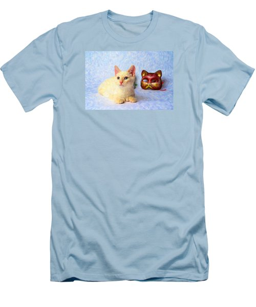 Cat Mask Men's T-Shirt (Athletic Fit)