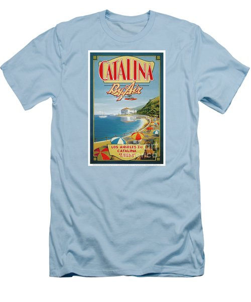 Catalina By Air Men's T-Shirt (Slim Fit) by Nostalgic Prints